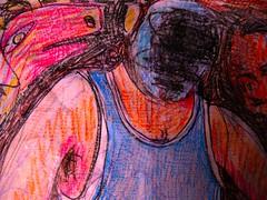 Hibernus (giveawayboy) Tags: winter man art pen tampa sketch artist drawing bull marker sharpie crayon boar hibernation fch giveawayboy billrogers hibernus