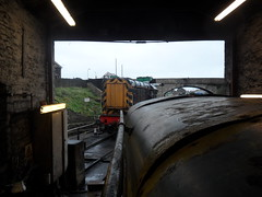 On shed in Swanage (DerekTP) Tags: diesel may railway loco swanage fowler 040 4210132