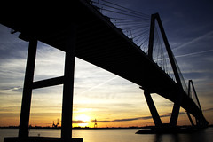 Ravenel Bridge, Charleston, SC (DFChurch) Tags: bridge sunset sc x charleston ravenel