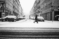 errands (ewitsoe) Tags: street city winter people snow cold cars 35mm buildings nikon europe downtown frost crossing poland poznan errands d80 taczakastreet