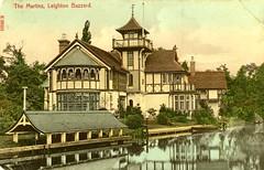The Martins (Lost-Albion) Tags: pagoda postcard victorian bedfordshire villa leightonbuzzard 1909 stengel mocktudor themartins