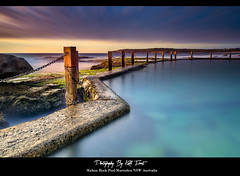 5 Minutes @ Mahon (Kiall Frost) Tags: ocean longexposure blue red orange sun color colour beach water yellow rock swimming sunrise photo nikon aqua image sydney australia le baths nsw mahonpool leefilters d7000 bigstopper kiallfrost