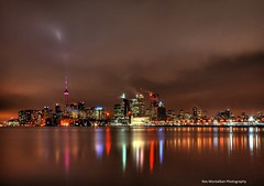 looking at the toronto skyline (Rex Montalban) Tags: longexposure toronto skyline night hdr 3xp photomatix rexmontalbanphotography pse9