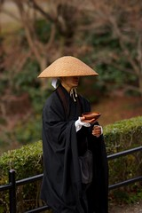 Japanese Ascetic Monks (wolfives) Tags: street japan portraits kyoto dof bokeh candid f18 za 135mm nex laea2 sonysonnart