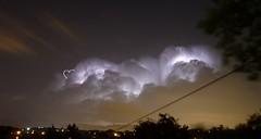 un amour d'eclair (lausend) Tags: coeur ciel nuage nuit eclair rayos tempête lightstorm eclaire gandrille lausend