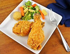 Oven 'Fried' Krispie Chicken (Kitchen Life of a Navy Wife) Tags: