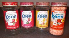 Vintage 1960's Nestle's KEEN Drink Mix Jars (gregg_koenig) Tags: old orange fruit vintage lemon mix cheery drink label retro mascot 1960s reproduction jars keen nestles repro