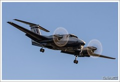 "BEECHCRAFT KING AIR ZK452 L ""GOLDEN GAIN"" (Gaz West) Tags: shadow by training plane grey king 5 aircraft secret air engine owned l beechcraft raytheon huron trainer multi raf ariels turboprop arial based kingair rafwaddington sqn cranwell multiengine coningsby 45r zk452 14sqn rafconingsby 5squadron 45rsqn sssssshhhhh goldengain"