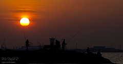Sunset After Crop (Naser__salem) Tags: sunset sea sky sun fire ku kuwait kuwaiti  tareq        suilhouette kuwaittag