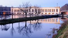 Panperduto (albi_tai) Tags: reflection water river reflex ticino nikon fiume acqua riflessi luce diga d90 lungaesposizione 21100 sommalombardo lte fiumeazzurro panperduto nikond90 tempilunghi albitai