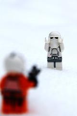 Hands Up! (The Quiff Is Dead) Tags: uk snow macro toy starwars gun dof lego esb stormtrooper imperial empirestrikesback hoth snowtrooper rebelalliance