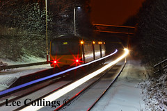 Woodlesford Station (Lee Collings Photography) Tags: nightphotography snow night lights nightshot transport leeds trains railwaystation nighttime lighttrails nightscene publictransport railways westyorkshire railwaybridge passengertransport photographyatnight leedsbynight woodlesford leedsatnight railnetwork photographingatnight woodlesfordstation photographybynight
