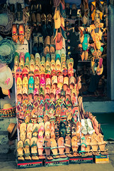 Chappal Stall (Sunpanther) Tags: india shoes colorful asia stall agra slipper uttarpradesh chappal ifttt jhuti