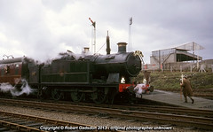 1966 - Steam and Football.. (Robert Gadsdon) Tags: geotagged 1966 steam preserved railtour didcot sls withdrawn gwr march27th 6697 wrexhamgeneralstation greatwesternsociety 56xx 060t farewelltogwrlocosandlandyr260s geo:lat=53052029356139315 geo:lon=3000737428665161 rugbyclubstands