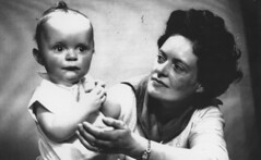 Image titled Mrs McKever and son. Dunoon 1961