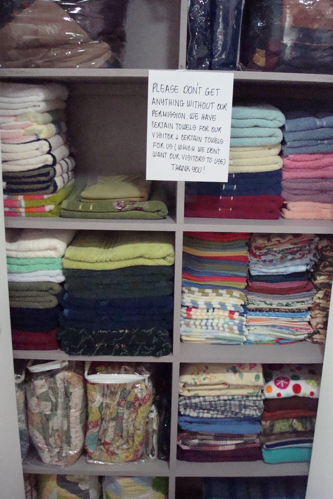 Please don't get anything without our permission.  We have certain towels for our visitor & certain towels for us (which we don't want our visitors to use)  Thank you!