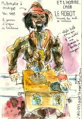et l'homme créa le robot 1 (croquisdenico) Tags: paris robot sketch drawing sketchbook dessin croquis carnetdevoyage artsetmétiers