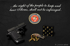 The Right to Bear Arms (jmaurophoto) Tags: magazine gun pistol handgun bullets ammunition nra 380 photogrpahy 2ndamendment semiautomatic usconstitution sigsauer photogrpaher gunrights nationalrifleassociation aroadbiker jmaurophoto wwwjmaurophotocom powderspringsphotographer atlantaphotogrpahy