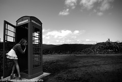 The phone (The memory of tree) Tags: cloud white black blanco girl composition landscape mujer nikon phone telephone negro pitbull nubes telefono thephone photographyforrecreation