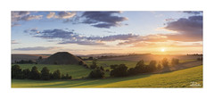 Sunset at Silbury Hill (JRTurnerPhotography) Tags: jaketurner jrturnerphotography canon canon5dmarkiii canon1635mmf4lis wideanglelens leefilters leegradfilters gradfilters picture print image photo photograph photographer photography panorama landscape landscapephotography nature sunset sun summer sunny sunlight sunburst dusk evening august sky clouds trees bushes hedges grass fields countryside farmland farming farm river riverkennet silburyhill avebury neolithicmonument mound grassmound wiltshire wessex northwessexdowns marlboroughdowns southwest westcountry england europe uk gb greatbritain unitedkingdom britain britishlandscape britishcountryside