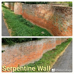 Serpentine Wall, near Framlingham (velodenz) Tags: velodenz fujifilm x30 digital image phot photo photograph photography cycling cycletouring cyclisme cyclotourisme ctc cyclinguk holiday vacation en vacances trip birthday rides suffolk east anglia england united kingdom uk great britain gb serpentine wall red brick crinkle crankle repostmyfuji repostmyfujifilm fuji xseries