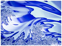 Turbulent Ocean (Brenda Boisvert) Tags: fractal fraxpro ipadair2 blue ocean abstract turbulent waves curls curves