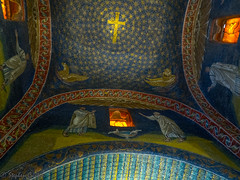 Starry Ceiling (stephencurtin) Tags: mausoleum galla placidia ceiling 5th century mosaics