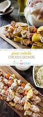 Pina Colada Chicken (alaridesign) Tags: pina colada chicken skewers sundaysupper