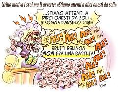 Grillo-Gags (Moise-Creativo Galattico) Tags: editoriali moise moiseditoriali editorialiafumetti giornalismo attualit satira vignette grillo onest comizio referendum