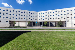 Knihovna Hradec Kralove (Bless your life) Tags: czechy czech republic library knihovna architecture architektura modern contemporary hradec kralove brutalism