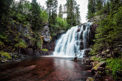 Stopfallet (Appe Plan) Tags: le nd filter long exposure nature landscape exploring explore hike soft silk water waterfall waterscape trees forest woods wild people portrait appe nikon d700 dalarna lvdalen stopfallet