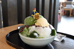 Travels of badger - Shaved Ice and Green Tea Ice Cream (enigmabadger) Tags: brickarms lego custom minifig minifigure fig accessory accessories japan asia vacation trip travel outdoors japanese