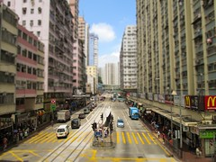 Hong Kong Tiltshifted (Redrah12) Tags: hong kong tiltshift city street road cars miniature