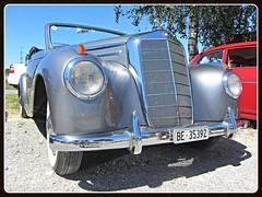 Mercedes-Benz 220 Convertible (W187) (v8dub) Tags: mercedes benz 220 convertible cabrio cabriolet roadster schweiz suisse switzerland seedorf german pkw voiture car wagen worldcars auto automobile automotive old oldtimer oldcar klassik classic collector