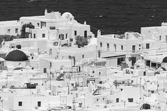 Downtown Mykonos (Ron Scubadiver's Wild Life) Tags: cityscape sea nikon 200500 mykonos greece monochrome blackandwhite