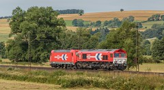 2041_2016_07_10_Haunetal_Neukirchen_Rheincargo_RHC_6185_606_mit_1266_071_Tfzf_93398_Wiederitzsch_-_Wrzburg_Rbf_Zell (ruhrpott.sprinter) Tags: ruhrpott sprinter geutschland germany nrw ruhrgebiet gelsenkirchen lokomotive locomotives eisenbahn railroad zug train rail reisezug passenger gter cargo freight fret diesel ellok hessen haunetal neukirchen db bobymeridian cancantus dispo eloc mrcedispolok rhc railpoolrpool setg txlogistik 152 185 193 411 415 428 1266 es64f4 ice r5 hilfszug trecker heuwender kornfeld weizen cocoon alien helikopter outdoor logo natur blumen tiere rinder schmetterlinge graffiti