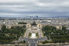 Trocadero desde la Torre Eiffel (CarlosJ.R) Tags: francia eiffel pars sena trocadero torreeiffel torre