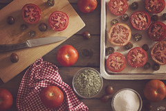 Tomates (Ali Llop) Tags: bowl cooking food fresh homemade ingredients ketchup kitchen mediterranean natural organic red ripe rustic sauce table tomato traditional vegetables wooden tableware cuttingboard vegetarian decoration stilllife aged white old gauze used nostalgia fineart vegetable arrangement round healthy retro backdrop texture enamel vintage nutrition branch metal