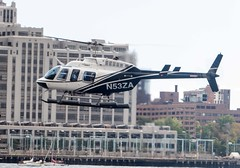 Bell 206L-4 LongRanger N53ZA Wall Street Heliport, New York City (pondhopper1) Tags: bellhelicopters belllongranger nyc newyorkcity helicopters n53za