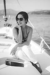 Portrait in the boat. (Jordi Corbilla Photography) Tags: model brazilian boat cruise nikon d750 50mm f18 jordicorbilla jordicorbillaphotography greece vlichada