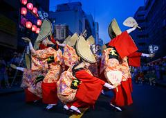 Nihoren Women's Performance in Blue Hour @ Mitaka Awaodori 2016 (Apricot Cafe) Tags: awaodori canonef1635mmf28liiusm japan mitaka mitakaawaodori nihoren tokyo dancing festival performance summer    mitakashi tkyto jp img648981