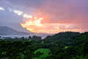Rainy Sunset on Hanalei Bay (jthight) Tags: usa landscape sunset water mountains landform hawaii clouds nikond810 trees kaui hanaleibay on1pics afzoom2470mmf28g kauai hanaleivalley rain lightroom hanalei princeville unitedstates us