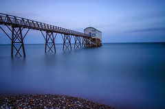 Selsey Lifeboat Station. (KVH-P) Tags: 2016 sigma1020mm water england travelphotography uklandscape uk nikond7000 ocean lowlight sea seascapes slowshutter sunset slowshutterspeed sussexlandscape sussex westsussex d7000 gitzotripod sky leefilters leebigstopper clouds cloudsstormssunsetsandsunrises beach beacheslandscapes bridge nikon nightphotography selsey selseylifeboatstation lifeboat peddles