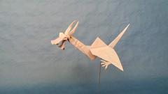 Dragon-crane by Tomasz Krawczyk (Tomasz Krawczyk Origami) Tags: origami dragon crane paper tomasz krawczyk