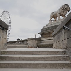 ... (lux fecit) Tags: paris jeudepaume statue wheel stairs concorde lion oblisque eiffeltower sculpture stone