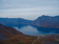 DPR Korea-China (Huo Luobin) Tags: north korea china border volcano caldera volcanic lake baekdu paektu paekdu changbai