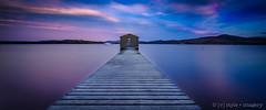 Boomer Bay ([v] style + imagery) Tags: tasmania boomer bay boat shed sunset vividcolour vivid australia