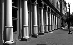 Pillars Of The Community (jrussell.1916) Tags: pillars streetscene nationalsocietyofthesonsoftheamericanrevolution bricks blackwhite bw monochrome cityscapes canonefs1755f28is louisvillekentucky