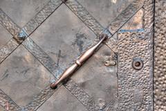 Door geometry (stevefge) Tags: krakow poland tyniec doors pattern metal copper monastery tonemap reflectyourworld