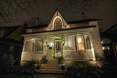 Ready for Christmas (Thankful!) Tags: christmas winter house holiday night festive christmaslights oldhouse glowing sparkling sigma816